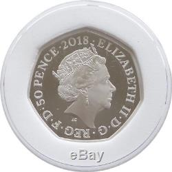 2018 Royal Mint Snowman Error Blue Hat Scarf 50p Fifty Pence Silver Proof Coin