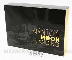 2019 AUSTRALIAN $5 & US Half Dollar 50th Apollo Moon Landing 2 Coin Proof Set