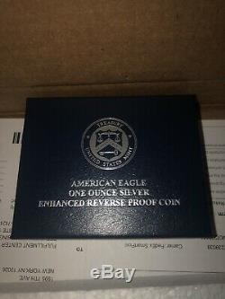 2019 American Eagle One Ounce Silver Enhanced Reverse Proof Coin 19XE