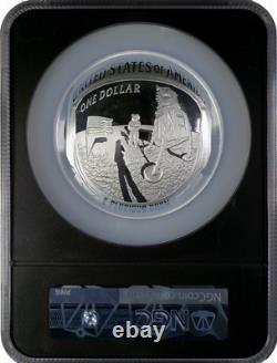 2019 Apollo 50th Anniv 5 Oz Proof Silver Coin NGC PF69 First Releases Black Core