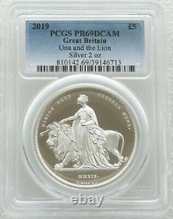 2019 Great Engravers Una and the Lion £5 Silver Proof 2oz Coin PCGS PR69 DCAM