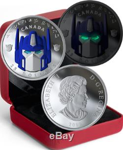 2019 OPTIMUS PRIME $25 1OZ Silver Proof High-Relief Coin Canada TRANSFORMERS