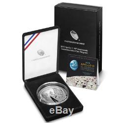 2019-P Proof $1 Apollo 11 50th Anniversary 5oz. Silver Coin, OGP & COA