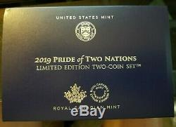 2019 Pride Of Two Nations 2-coin Set Ngc Enhanced Rev Pf 70 Fr Modified Ngc Pf70