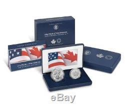 2019 Pride of Two Nations 2 Coin Set Enhanced Reverse Proof Silver Eagle, 19XB