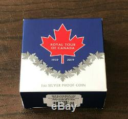 2019 Royal Tour of Canada 1939-2029 $1 Pure Silver Proof Star Shaped Coin Niue