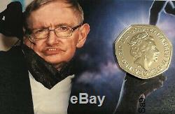 2019 STEPHEN HAWKING 2019 Silver Proof 50p Pence Coin sold out in 60 mins