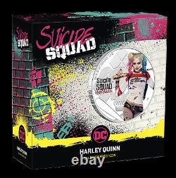 2019 SUICIDE SQUAD Harley Quinn $1 1oz. 9999 SILVER PROOF COLORIZED COIN