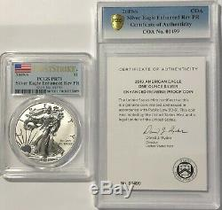 2019 S $1 Enhanced Reverse Proof Pcgs Pr70 First Strike Silver Eagle Coin