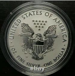 2019 S American Eagle One Ounce Silver Enhanced Reverse Proof Coin 19XE