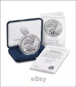 2019 S American Eagle One Ounce Silver Enhanced Reverse Proof Coin 19xe Untouche