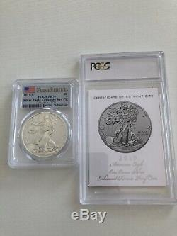 2019 S American Eagle One Ounce Silver Enhanced Reverse Proof Coin FS PR70 PCGS
