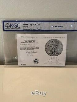 2019 S American Eagle One Ounce Silver Enhanced Reverse Proof Coin NGC #00932