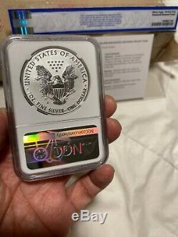 2019-S American Eagle One Ounce Silver Enhanced Reverse Proof Coin NGC PF 70