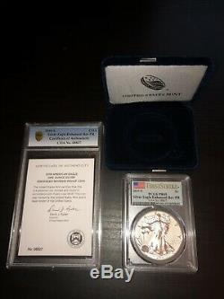 2019 S American Eagle One Ounce Silver Enhanced Reverse Proof Coin Pcgs Pr69