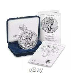2019 S American Eagle Silver Enhanced Reverse Proof Coin 19XE Sealed Rare