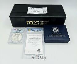 2019 S American Eagle Silver Enhanced Reverse Proof Coin PCGS COA 01883 19XE FS