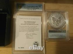 2019 S American Eagle Silver Enhanced Reverse Proof Coin Pcgs First Strike