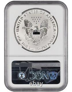 2019-S Silver American Eagle Enhanced Reverse Proof NGC PF70 With COA