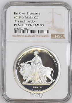 2019 Silver Proof 2oz Una and the Lion Coin NGC PF69 UCAM