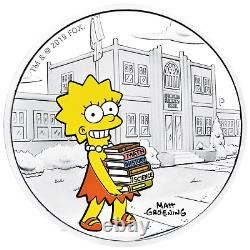 2019 The Simpsons Lisa Simpson 1oz $1 Silver 99.99% Dollar Proof Coin