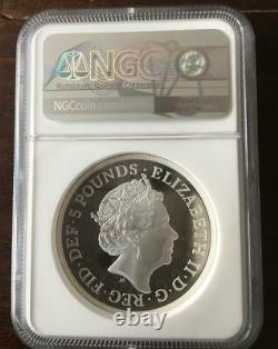 2019 Una And The Lion Proof Silver coin, NGC PF 70