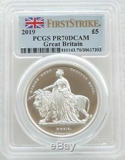 2019 Una and the Lion £5 Silver Proof 2oz Coin PCGS PR70 DCAM First Strike