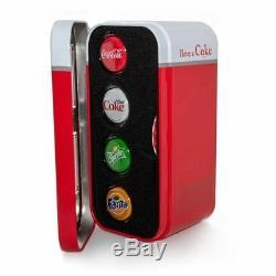 2020 $1 Coca Cola Vending Machine Bottle Cap Shaped Silver Proof 4 Coin Set