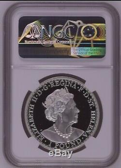2020 1 oz. 999 Silver ST. Helena Una and The Lion Silver coin Proof NGC PF70 POP5