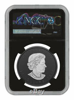 2020 Canada 1 oz Incuse Silver Maple Leaf Black Proof $20 Coin NGC PF70 FR BC