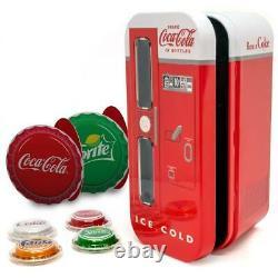 2020 Coca-Cola VENDING MACHINE (4) $1 Silver Bottle Cap Coins FIJI Coke