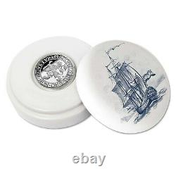2020 Netherlands Lion Dollar 1 oz Silver Proof Coin Royal Delft Ed. 400 Made