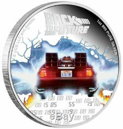 2020 Niue Back to the Future 1 oz Silver Colorized Proof $2 Coin Mr Fusion Delay