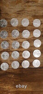 2020 Silver Roll of 20 American Eagle BU 1oz American Silver Eagles $1 Coins