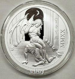 2020 Temptation of the Succubus 2oz Silver Proof Round Coin