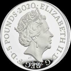 2020 Three Graces William Wyon Two Ounce Silver Proof Five pounds Coin New