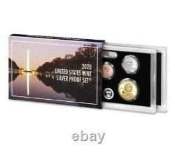 2020 U. S. MINT 10 COIN SILVER PROOF SET, NO BONUS NICKEL, Pre-Sale