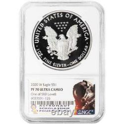 2020-W Proof $1 American Silver Eagle NGC PF70UC Jim Lovell Signature Label 1 of