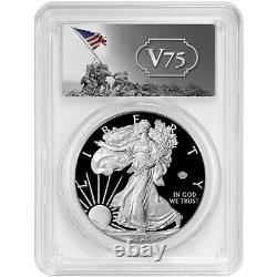 2020-W Proof $1 American Silver Eagle WWII 75th V75 PCGS PR69DCAM FS V75 Label