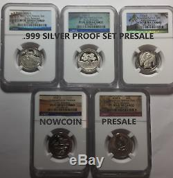 2020-s Ngc Pf70 (5) Coin Silver Proof Quarter Set Early Releases Presale