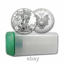 2021 1 oz American Silver Eagle BU Lot, Tube of 20 Coins Type 1 Silver Eagles