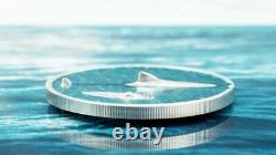 2021 $5 Palau Great White Shark High Relief 1oz. 999 Silver Proof Coin