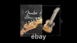 2021 999.9 Silver Fender Telecaster Guitar Shaped 1 oz Reverse Proof Coin