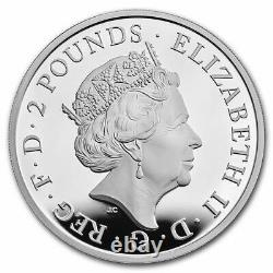 2021 Great Britain £2 Queens Beast Greyhound 1 oz Silver Proof Coin 3,800 Made