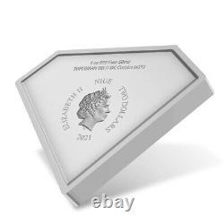 2021 Niue 1 oz Superman Shield Shaped Silver Coin (withBox & COA)