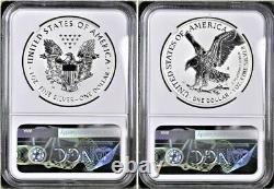 2021 Reverse Proof Silver Eagle 2 Coin Designer Set, Ngc Rev Pf 70 Fdoi
