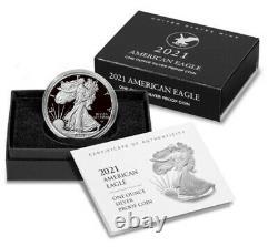 2021 S American Eagle 1 oz. SILVER PROOF NEW REVERSE PRESALE TYPE 2