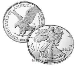 2021-S American Eagle Type 2 One Ounce Silver Proof Coin (21EMN)