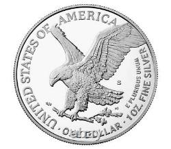2021 S Proof $1 Silver Eagle, Type 2, Ngc Pf70uc First Releases, Trolley Label