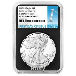 2021-S Proof $1 Type 2 American Silver Eagle NGC PF70UC FDI First Label Retro Co